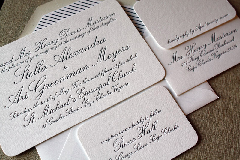 letterpress wedding summer series your invitations bringing events,Wedding Letterpress Invitations