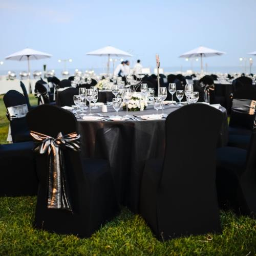 outdoor wedding reception tables chairs