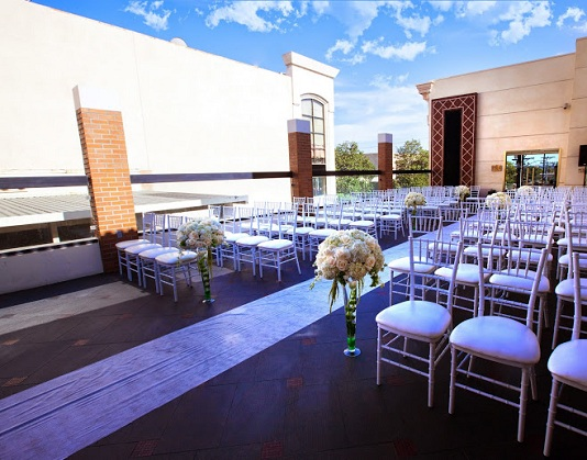 Chairs set for wedding at Brandview Patio LABanquets.com