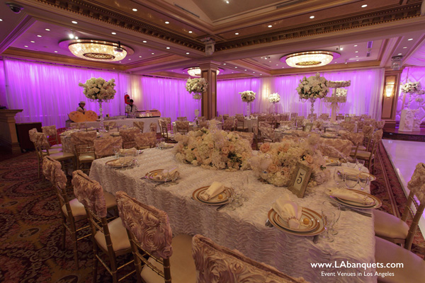 Beautifully Laid Out Tables at Glenoaks Ballroom