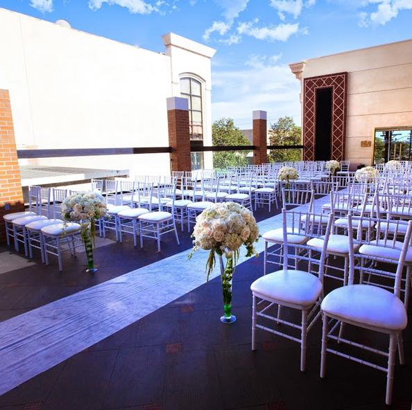 Outdoor wedding ceremony in Glendale CA