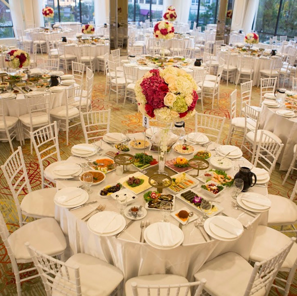 Family Style food presentation at Brandview Banquet Hall